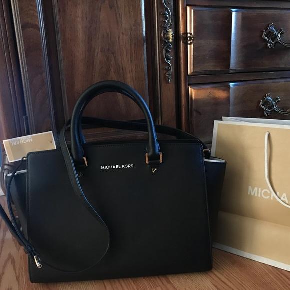 e5af0df78e29  358 Michael Kors Selma Saffiano Handbag MK Purse